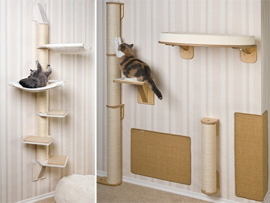 How to build a cat tree scratching post love that pet for Homemade cat post